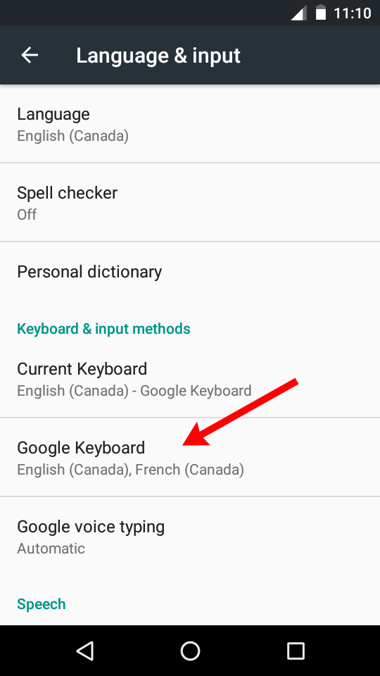 Spellcheck English + French At The Same Time On Android