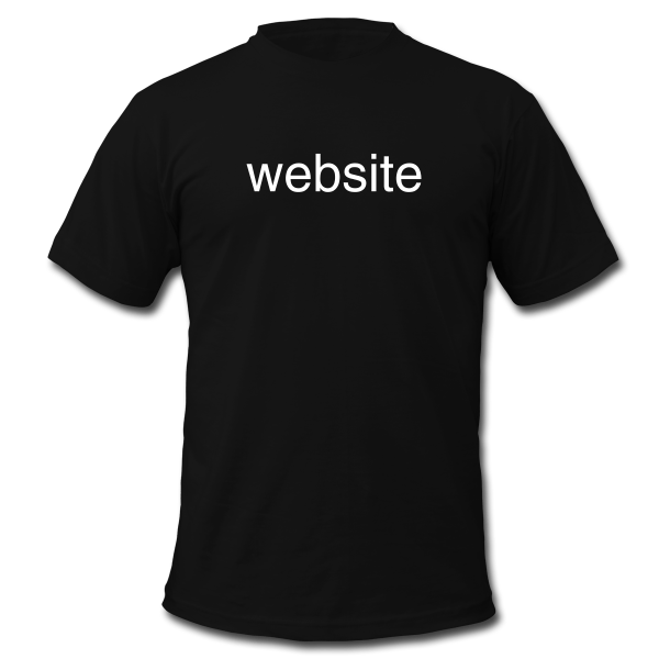 A t shirt with the word website printed on it kizu 514 for T shirt printing website